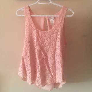 Talula Pink Lace Top