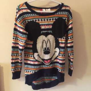 "H&M Disney ""Micky Mouse"" Knit Sweater"