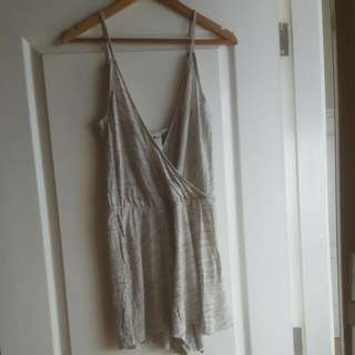 #H&M Sexy Grey Playsuit Size S