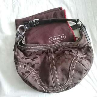 Authentic Coach Bag In Dark Brown