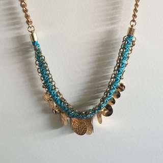 Colette Gold/blue Necklace