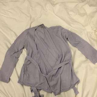 Zara Lilac Wrap Sweater