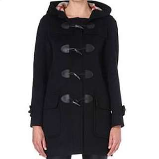 Black Wool/cashmere Duffel Coat