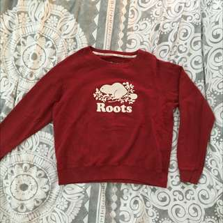 Red Roots Crew Neck Sweater