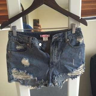 Supre Ripped Short Shorts