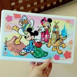 迪士尼  野餐盒 收納盒  米奇 米妮  唐老鴨