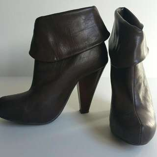 Brown Tall Heel/boot