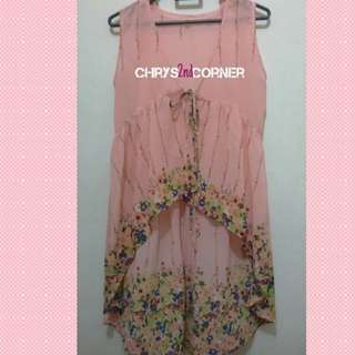 Flower Chiffon Vest Layer