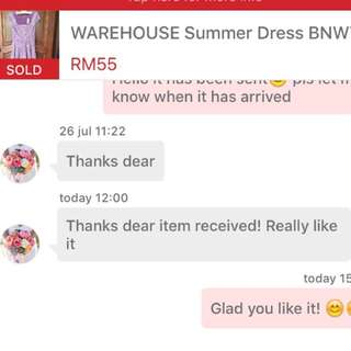 Buyer feedback