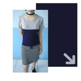Stripes Knitted Dress