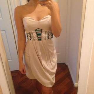 Wish Strapless Detailed Dress