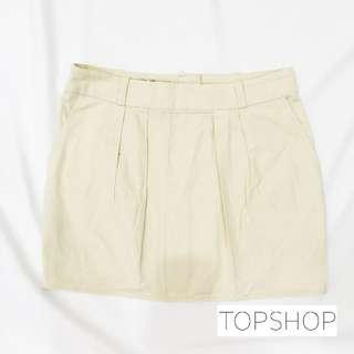 TOPSHOP - Tulip Mini Skirt - Cream (UK6)