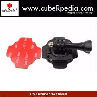 GoPro / SJCAM / YI Camera Helmet 360 Rotating Mount