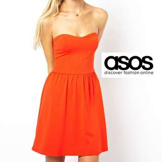 ASOS - Mini Bandeau Sundress - Orange (UK6)
