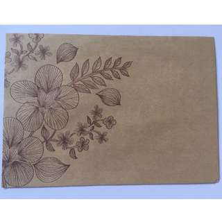 Kraft paper flower envelope