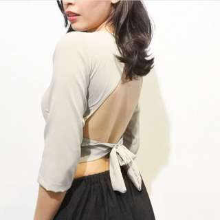 NEW Backless Cropped Top