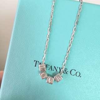 🚚 Tiffany方塊LOVE純銀項鍊