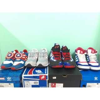 Nike Newblance Nb Jordan aj Adidas 鞋 休閒鞋 運動鞋 籃球鞋 復古 古著 文青 高筒 美國隊長