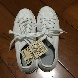 無印良品全新小白鞋