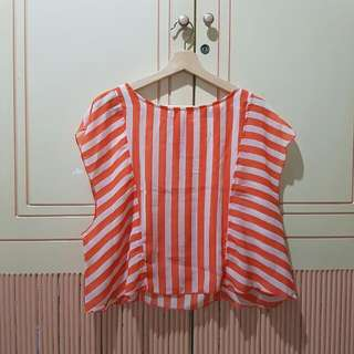 Chiffon Orange Stripe