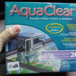 Brand new Aquaclear 20 Filter with filter media.