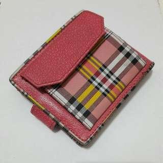 粉色格紋皮夾
