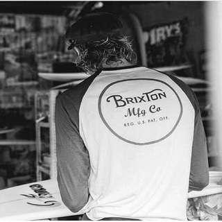 Brixton加州品牌 潮流衝浪 七分袖 拼接 街頭美系2016 秋