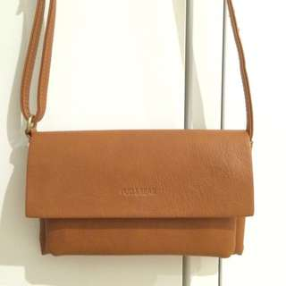 Pull And Bear Brown Leather Bag