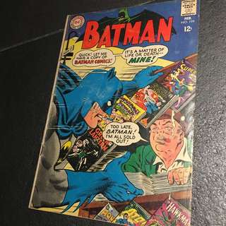 Vintage BATMAN Comic #199