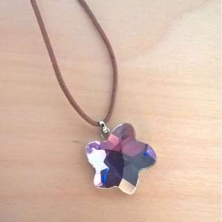 Swarvoski Flower Necklace- Lilac