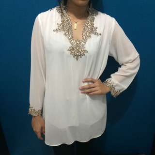 White Gold Blouse