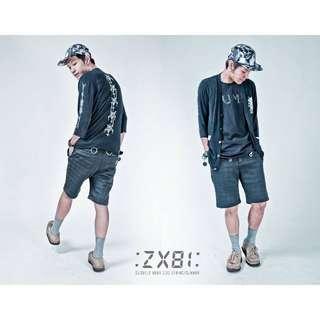 <全新> Slightly Numb 15ss METAPHARSTIC SHORTS 黑格短褲 原價$2480