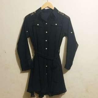 BLACK CHIFFON LACE DRESS REPRICED