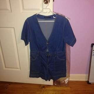 Jean Play suit Size L