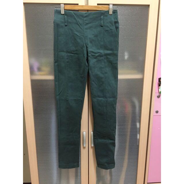 郵差綠厚版長褲