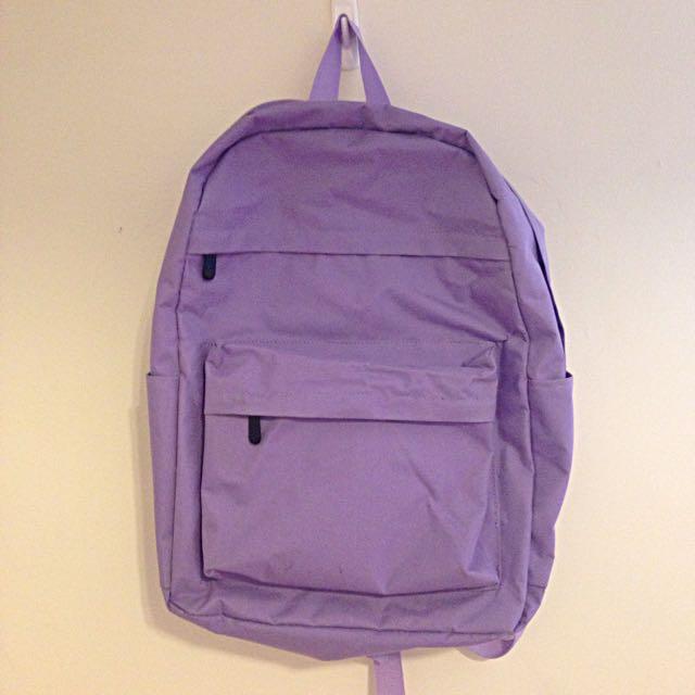 淺紫色後背包 雙肩背包 包包 含運