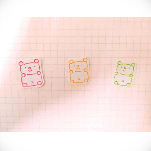 ❤💛💚小熊軟糖手繪貼紙💚💛❤