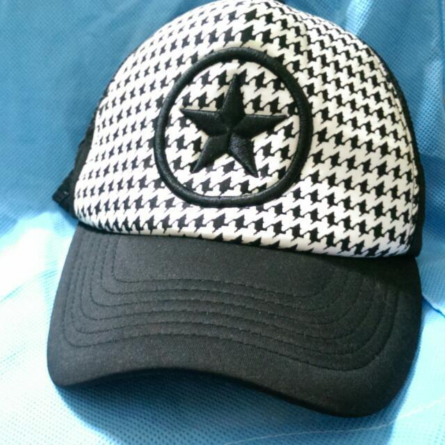 黑白星星網帽