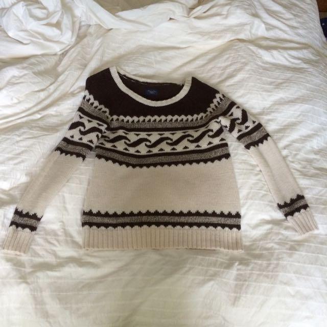 American Eagle Printed Wool Sweater