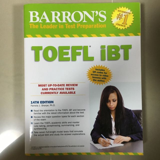 Barrons toefl ibt 14th ed books stationery textbooks on carousell photo photo photo photo photo fandeluxe Images