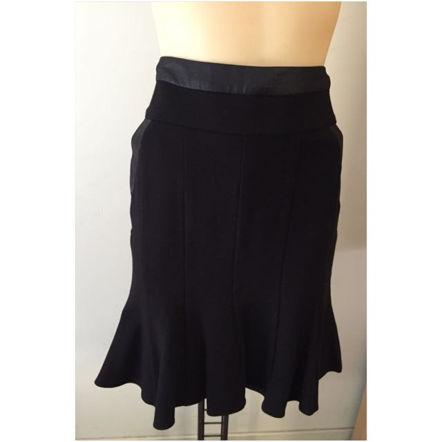 Beautiful Black Frilly Review Smart Casual Skirt 8
