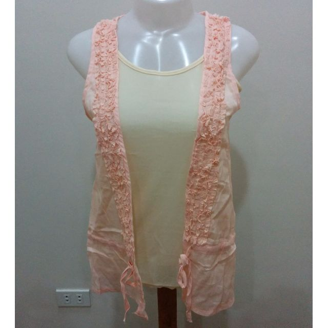 Beige Tank Top With Peach Vest (Used) Sale!!!