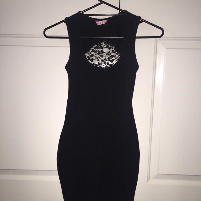 Black Cling Dress