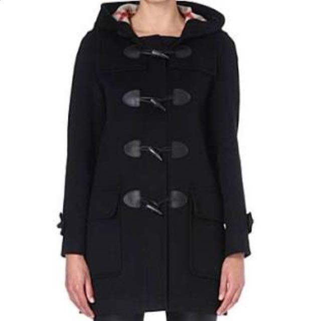 Black Wool/cashmere Duffel Coat