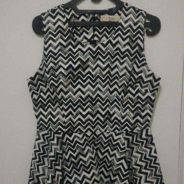 Blouse Black And White Stripes