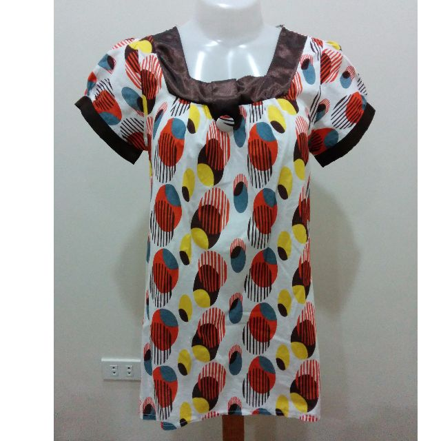 Brown Printed Tunic Top (Used) Sale!!!