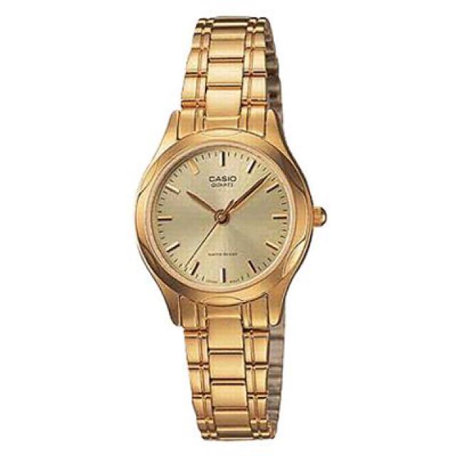 Casio 卡西歐 璀璨金 女錶 指針 金錶LTP-1275G-9A