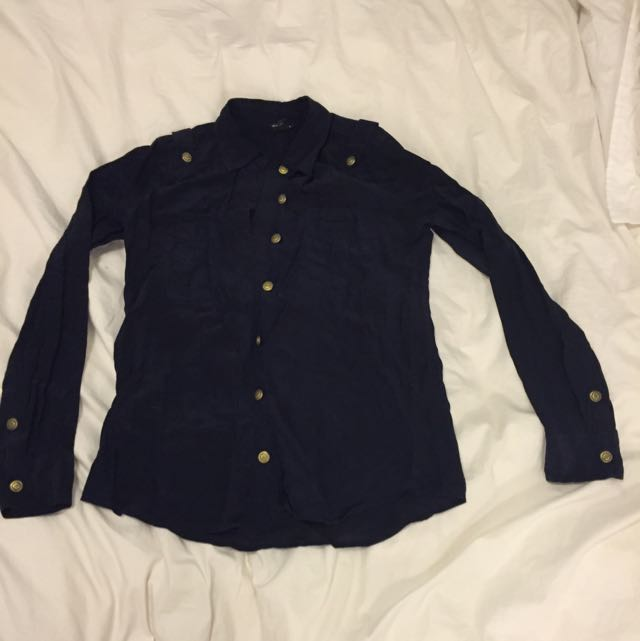 Club Monaco Antique Gold Button Up