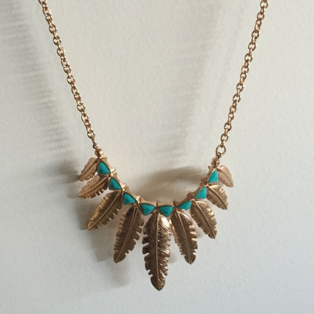 Colette Feather Gold Necklace