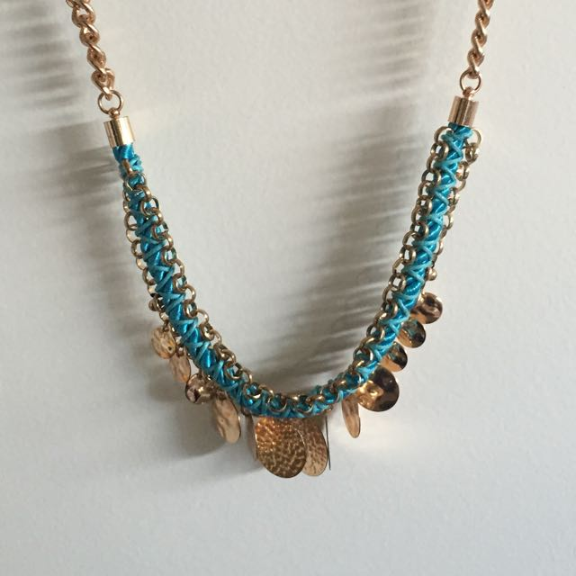Colette Gold/blue Necklace
